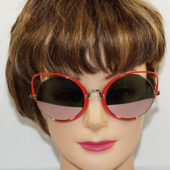 c35f5f53fae MIU MIU CAT EYE RED WIRE MIRRORED SUNGLASSES